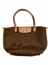 LONGCHAMP PARIS Le Pliage Large Women's Bag Tote Nylon Luxury Leather Brown