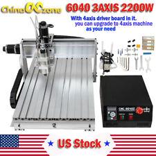 CNC 6040 2200W 3Axis Mach3 USB Router DSP Engraving Cutting Drilling DIY Machine