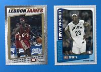 (2) 2003 LeBron James RC cards: All Sports Gold 1 of 200 + Base RC - PSA Ready!