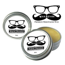 Wax-A-Stache Original Unscented Extra Firm Moustache Wax 1oz Tin