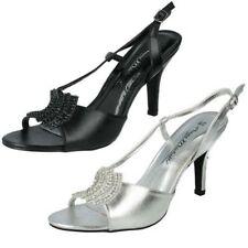 Buckle Open Toe Heels for Women