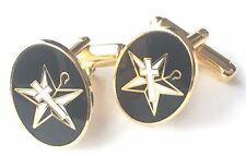 Masonic White Shrine Enamel Crested Cufflinks (N234) Gift Boxed