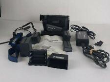 Sony Handycam CCD-TRV67 Hi-8 Video8 Camcorder W/Remote 4 batteries, battery case