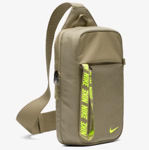 NIKE SPORTSWEAR ESSENTIALS HIP PACK TRAVEL ZIP BUM BAG - KHAKI BA6144-247