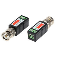 2x Coax CAT5 CCTV Camera Passive BNC Video Balun to UTP Connector TransceiversMW