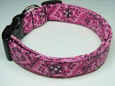 Charming Pink & Black Bandana Dog Collar