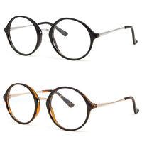 Large Oversized Big Round Clear Lens Round Circle Eye Glasses Black White Cream