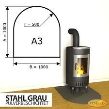 Kaminbodenplatte Funkenschutz ✔ Ofenplatte Ofen ✔ Kaminofenplatte Stahl grau A3