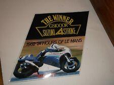 vintage suzuki gs1000r  sticker genuine  35 years old nos 1982 winner 24 le mans