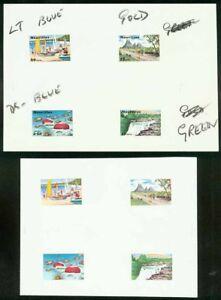 Mauritius 1971 Tourism COMPOSITE MASTER PROOF SHEETS