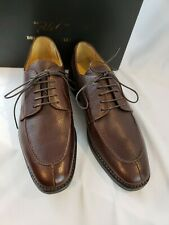 Brooks Brother 346 Mens Split Apron Toe Brown Pebble Leather Oxfords 8.5 D - New