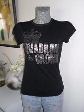 t tee shirt de marque ZARA taille M 38 40 noir strass haut top maillot polo été
