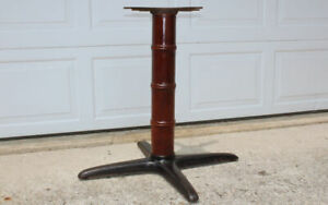 Cast iron faux bamboo wood bistro dining table base Chairmasters New York tiki