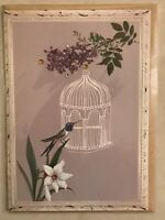 Papyrus - Mother's Day greeting card Mom Flowers Bird - New in Packaging