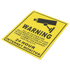 CCTV  Surveillance Camera Warning Sticker Warning Lable Sign Decals N2C