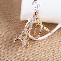 Eiffel Tower Rhinestone Keyring Charm Pendant Purse Bag Key Ring Keychain AU.