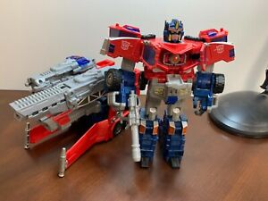 Transformers Cybertron Galaxy Force 2004 Leader Optimus Prime missing missiles
