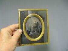 Cadre sous verre avec Daguerréotype. Dame assise XIXe. Napoléon III.
