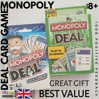 Monopoly Deal Card Great Kids Game White Green Version Mix and Match Brand NEW