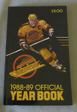 Original NHL Vancouver Canucks 1988-89 Official Hockey Media Guide