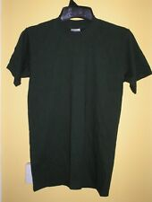 Green GILDAN Activewear short Sleeve Plain Ultra Cotton T Shirt Top made Canada