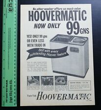 Old vintage ad HOOVERMATIC Twin Tub Washing Machine Washer advertising advert