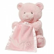 Gund Baby My First Teddy Bear Peek A Boo Animated Baby Stuffed Animal, Pink