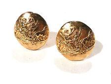 Bijou alliage doré boucles d'oreilles clips La Rose Pourpre Paris  earrings