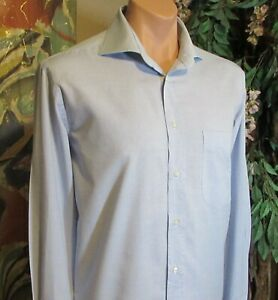 CERRUTI 1881(sz.16/41) Dress Shirt Light blue.Long sleeve.Cotton.Regular Fit.EUC
