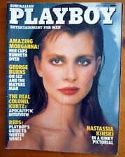 AUSTRALIAN PLAYBOY MAGAZINE July 1983 Nastassia Kinski Julie Waine George Burns