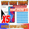 Vitre protection verre trempé film écran iPhone 8 7 6S Plus 5 XR XS 11 PRO MAX