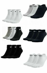 Nike 3 Pairs Socks Men's Womens' Trainer Sports No Show Ankle Socks Cotton