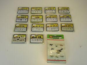 Woodland Scenics N Scale Figure Lot! 15 Packs of N Scale Figures/People. New!