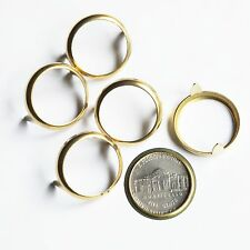 Nickel 5 cent USA Coin Holder Rim Setting Bezel Nailhead with Prongs Brass Pk/10