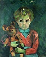 PORTRAIT DE ENFANT. PEINTURE. HUILE SUR TOILE. SIGNÉ. ESPAGNE. CIRCA 1950