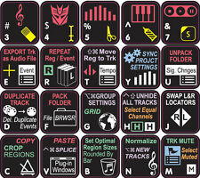 The Best LOGIC PRO Keyboard Shortcut Stickers. Ever. (BLACK ADVANCED)