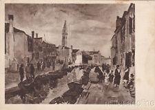 * BURANO - Rio della Giudecca (M.Vellani Marchi) XX Biennale d'Arte Venezia 1936