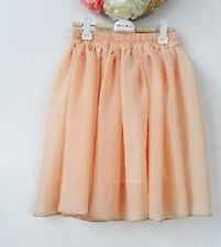 Vintage Women Girl High Waist Pleated Double layer Chiffon Short Mini Skirt