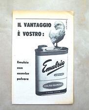 C982 - Advertising Pubblicità - 1953 - EMULSIO CERA PER PAVIMENTI