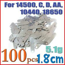 100x 1.8cm 5.1g solder tab AA 10440 Sub C 14500 battery
