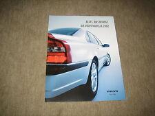 Volvo S40, S60, S80, V40, V70, XC70, XC90 Prospekt Brochure von 2002, 34 Seiten