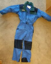 Columbia Nylon Tectonic Blue Snowsuit Ski Youth 8 EUC pants snow one piece
