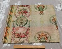 """Vintage c1920s French Cotton Floral Tapestry Jacquard Fabric Sample~L-20""""X W-24"""""""