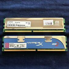 4GB (2x2GB) DDR2 Ram Desktop Memory 240pin, Kingston 99U5316 & Mushkin PC2-5300