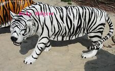 Tiger Figure Life-Size Large Garden Sculpture Africa Glass Fibre Tissue Dekofigur 2