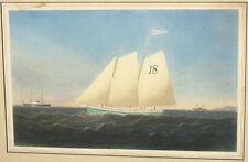 Conrad Freitag Pilot Boat Enchantress 19th Century Watercolor Sidewheeler Alaska