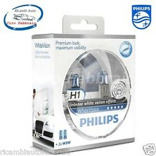 LAMPADE PHILIPS WhiteVision H1 12V 55W 4300K +2 W5W 60% LUCI DI POSIZIONE W5W