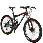 "27.5"" Full Suspension Mountain Bike Shimano 21 Speed Mens Bikes"