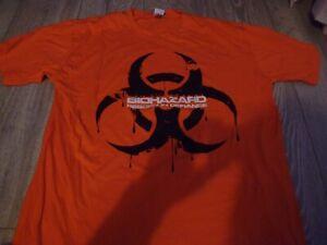 biohazard nyhc xl orange t shirt ex condition