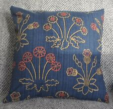 """NEW 16"""" reversible zipped cotton cushion Liberty Jane's Daisy or Lechlade navy"""